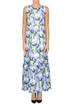 Flower print silk long dress L'Autre Chose