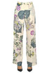 Flower print cotton trousers Twin Set My Twin