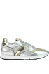 Metallic effect leather sneakers Voile Blanche