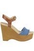Leni wooden wedge sandals Michael Michael Kors