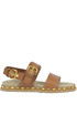 Studded leather flat sandals Carshoe