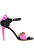 Suede sandals Love Moschino
