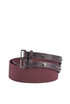 Elasticated fabric and leather belt Orciani