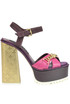 Leather and suede sandals John Richmond
