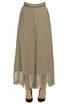 Fringed linen trousers MSGM