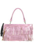 Metallic effect leather fringed bag Andrea Incontri