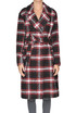 Checked print coat Twin-set Jeans
