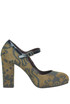 Printed suede Mary Jane pumps Lisa Corti