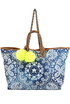 Printed canvas shopping bag Mia Bag