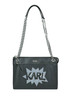 Eco-leather shoulder bag Karl Lagerfeld