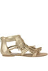 Fringed metallic effect leather sandals Steve Madden