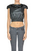 Cropped eco-leather top Mangano
