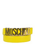Maxi logo leather belt Moschino Couture