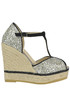 Aura glittered wedge sandals Espadrilles