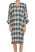 Checked print dress Soallure