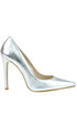 Metallic effect leather pumps Andrea Pinto