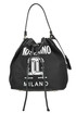 Nylon and leather bucket bag Moschino Couture