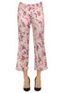 Printed satin trousers True Royal