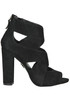 Open-toe suede ankle-boots Guess
