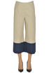 Cropped cotton trousers Ottod' Ame