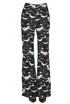 Flared virgin wool blend knit trousers Marni