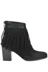 Fringed suede ankle boots Kristina Ti