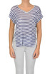 Striped linen t-shirt Majestic Filatures