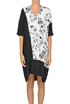 Printed silk tunic dress Costume National