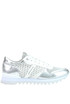 Metallic effect leather and fabric sneakers Apepazza