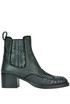 Reptile print leather texan boots Carshoe