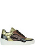 Metallic effect leather and chenille sneakers Tipe e Tacchi