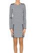 Striped sheath dress Michael Michael Kors