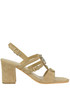 Penny jewel detail suede sandals Apepazza
