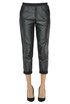 Cropped eco-leather trousers Twin-set Jeans