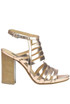 Averio metallic effect leather sandals Janet&Janet