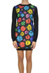 Flower print satin dress Moschino Couture