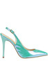 Iridescent leather slingback pumps Cardiff