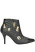 Quilted leather ankle-boots Love Moschino