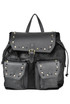 Studded leather and haircalf backpack Anna Rock Milano