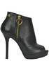 Open-toe leather ankle-boots Love Moschino