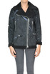 Printed eco-shearling biker jacket Gaelle Paris