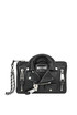Leather biker bag clutch Moschino Couture