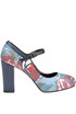 Printed leather Mary Jane pumps Lisa Corti