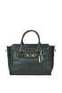 Textured leather tote bag Coach