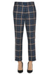 Regine checked print trousers Dondup