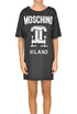 Designer logo maxi t-shirt dress Moschino Couture