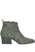 Alicia printed suede ankle-boots Lisa Corti