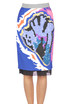Printed pencil skirt CO/TE