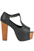 Foxi wood open-toe shoes Jeffrey Campbell