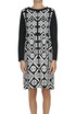 Optical print dress Alessandro